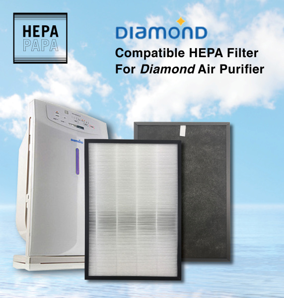 Diamond Air Purifier 416UV Compatible HEPA Filter [Free Alcohol Swab] [SG Seller] [7 Days Warranty] [HEPAPAPA] Singapore