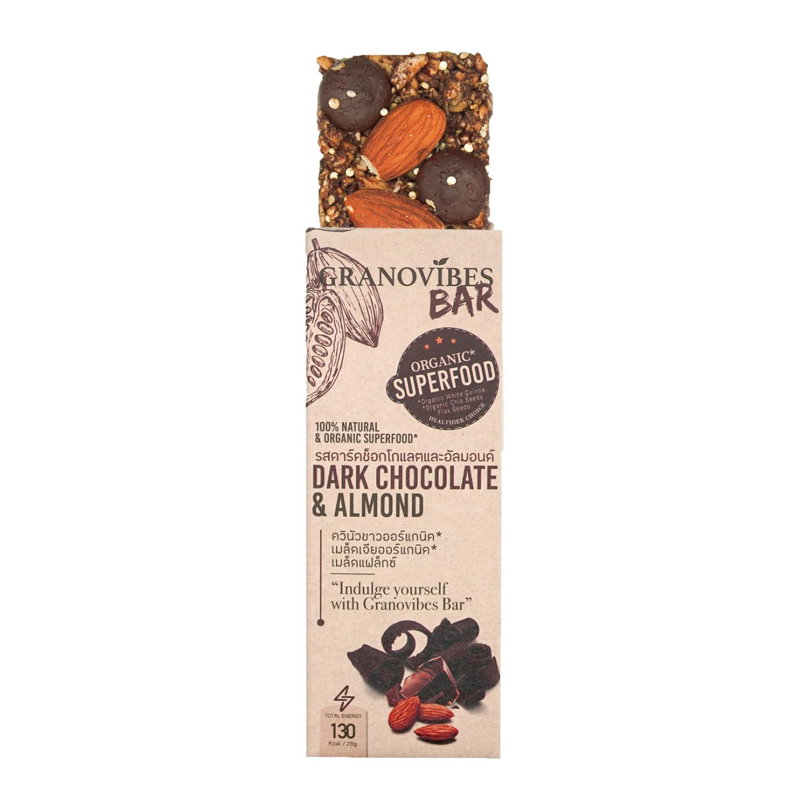 Granovibes Dark Chocolate and Almond Granola Bar