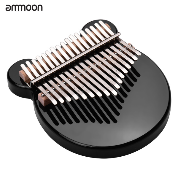 ammoon 17-Key Thumb Piano Black Acrylic Kalimba Mbira Musical Instrument with Carrying Case Tone Stickers Tuning Hammer Finger Protector Padding Wipe Cloth Malaysia