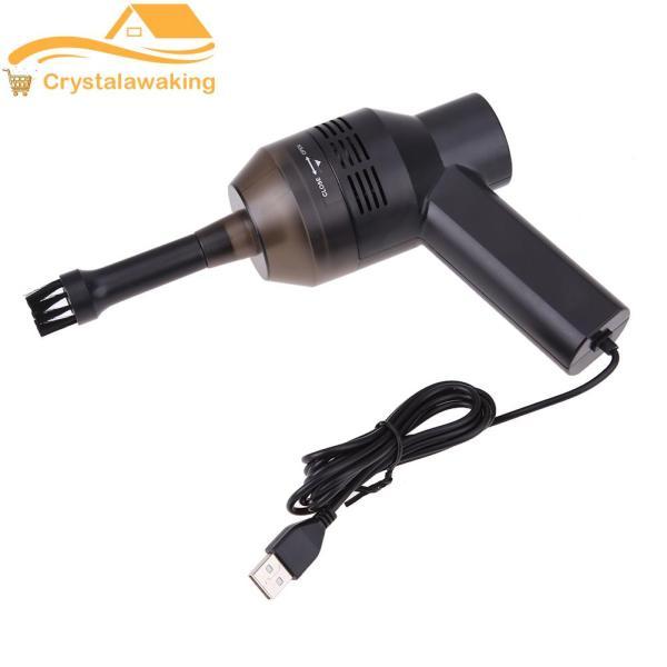 Portable USB Mini Vacuum Cleaner Computer Keyboard Dust Handheld Brush (Black) - intl Singapore