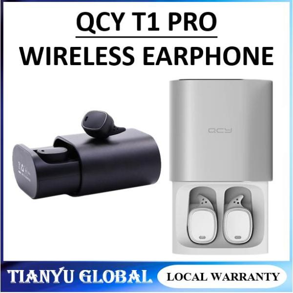 QCY T1 PRO Black TWS business earbuds Bluetooth earphones wireless 3D headphones with microphone Singapore