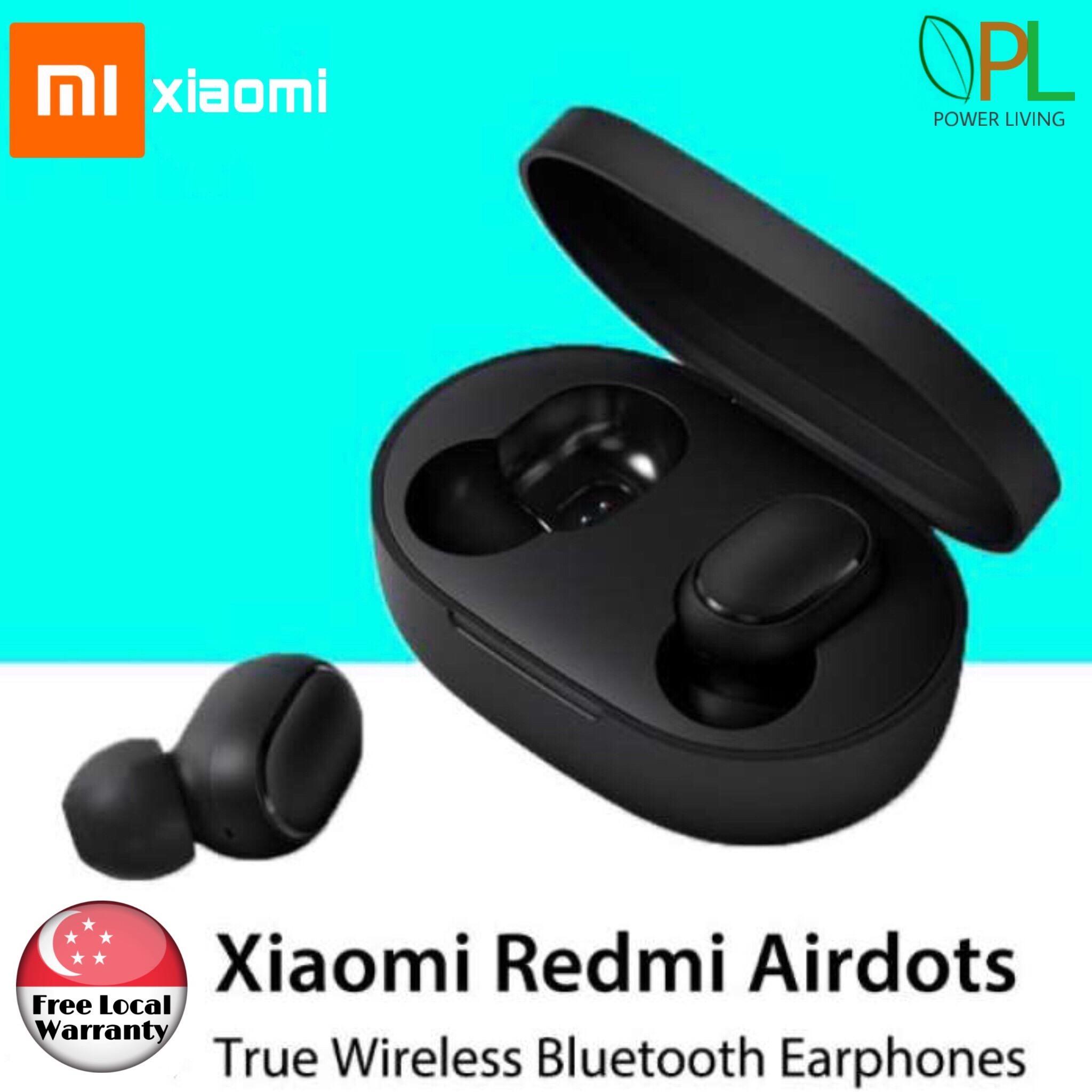 Xiaomi Redmi Airdots Bluetooth 5 0 Earphones Earpiece Earbuds Headset  Headphones True Wireless Earphones Dual In-ear call Sports Music Headphones
