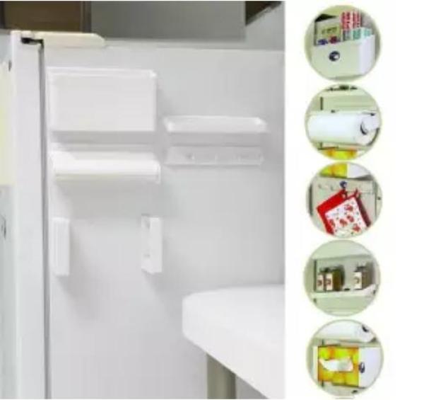 MISSHER 5 in 1 Multipurpose Magnetic Refrigerator Shelf