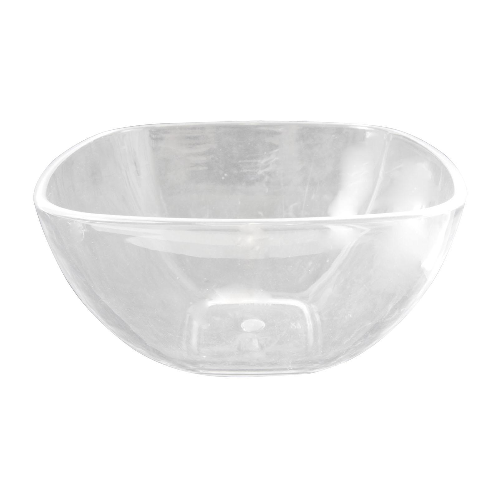 ToTT Clear Acrylic Square Salad Bowl 1200ML - By ToTT