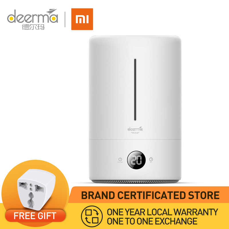 XIAOMI Deerma F628A Ultrasonic Cool Mist Humidifier Air Purifier Aroma Essential Oil Diffuser Moisturising Effect 5L with LED Digital Touch Screen and Timer Singapore