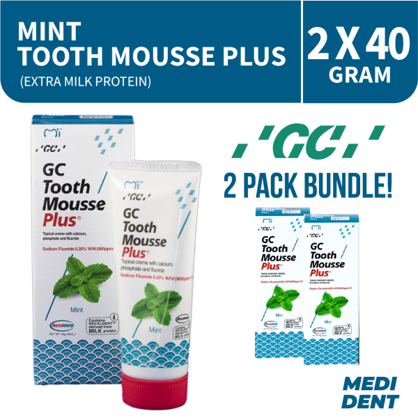 Buy GC TOOTH MOUSSE PLUS WITH EXTRA MILK PROTEIN MINT 40G [BUNDLE OF 2] Singapore