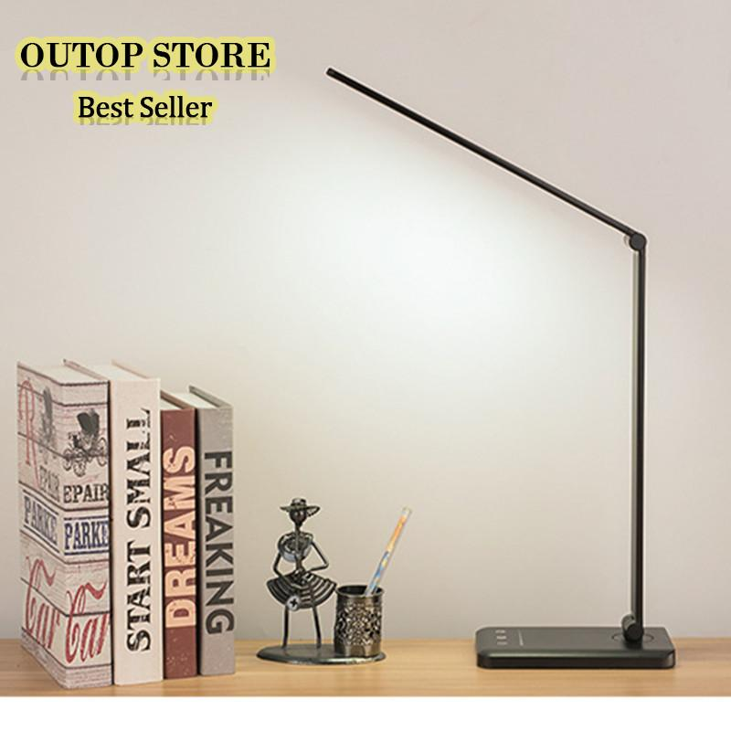OUTOP 6W LED Folding 5 Dimable Modes Touch USB Chargeable Reading Eye-protect Table Lamp