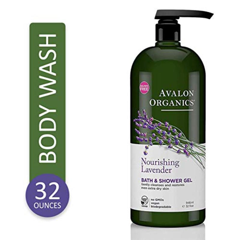 Buy Avalon Organics Nourishing Lavender Body Wash and Shower Gel, 32 oz Singapore
