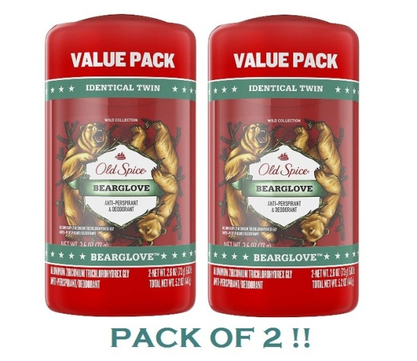 Buy Old Spice Wild Collection Invisible Solid Antiperspirant and Deodorant, Bearglove, 2.6 Oz, (PACK OF 2!!) Singapore