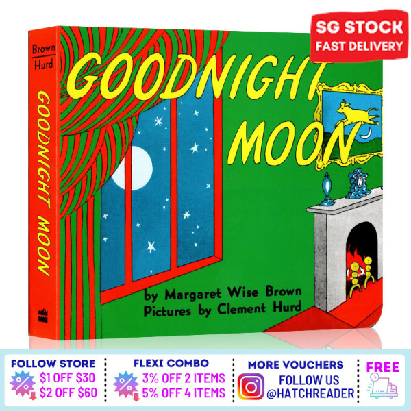 [SG Stock] English Story book  Goodnight Moon for children child kids baby 0 1 2 3 4 5 6 years old learning sensory play flash card picture animal