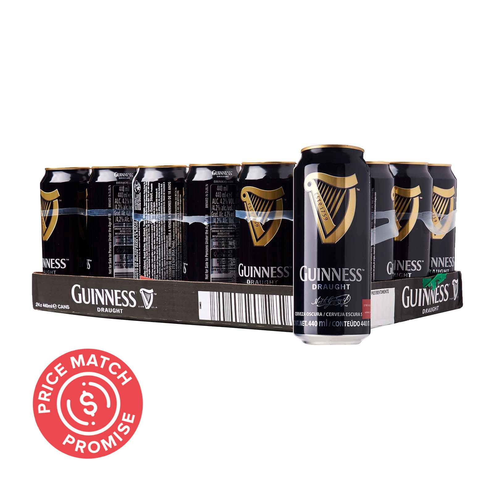 Guinness Draught Stout Can 24x440ml