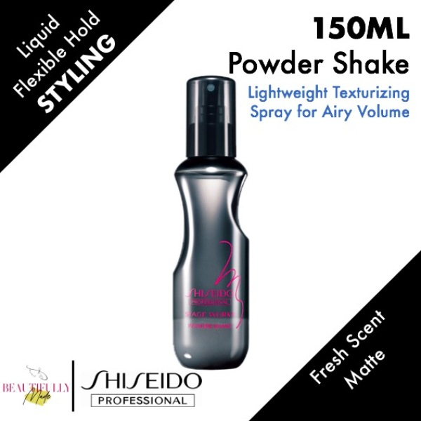 Buy Shiseido Stage Works Powder Shake 150ml - Flexible Control For Instant Volume • Innovative Oil-Free Powder Styling Mist Spray • Humidity Resistance Singapore