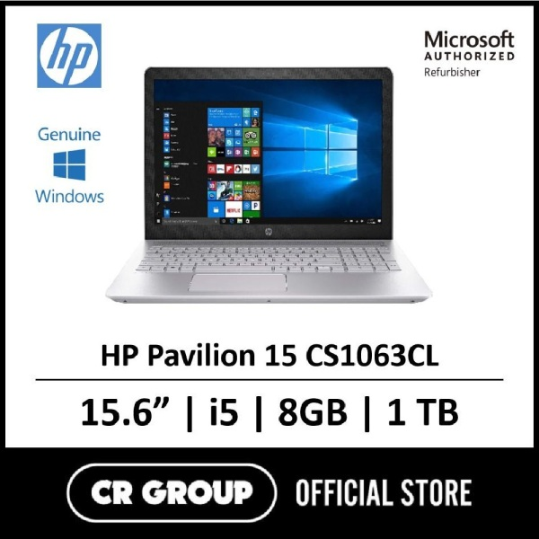 Same Day Delivery Option* [Microsoft Authorized Refurbisher] HP Pavilion 15-CS1063CL i5 - 8265U Up to 3.9GHz With Turbo Boost 8GB RAM 1TB SATA