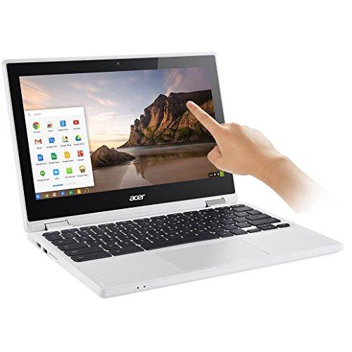Acer - R 11 CB5-132T-C8ZW 2-in-1 11.6 Touch-Screen Chromebook - Intel Celeron - 4GB Memory - 16GB eMMC Flash Memory - White
