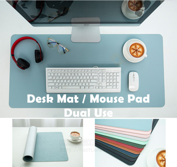 Waterproof Leather Desk Table Mat Mouse Pad