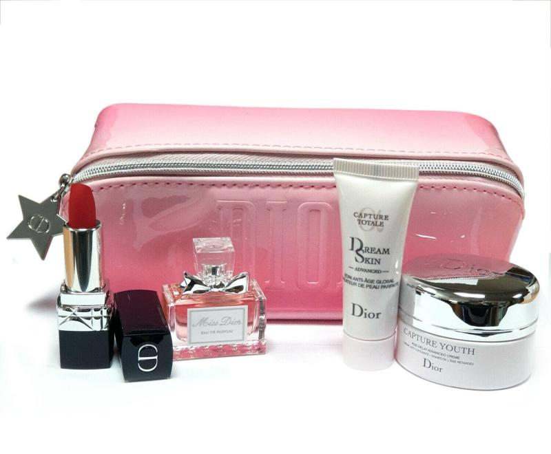 Buy Dior Gift Set With Rouge 999 (447652 - 4 Pcs + 1 Pouch) Singapore