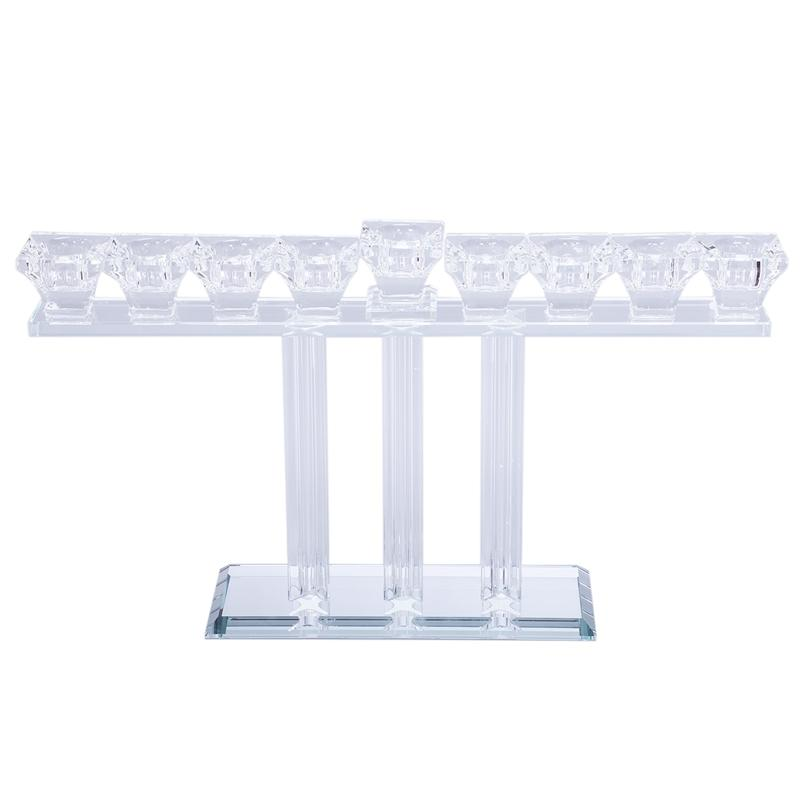 Crystal Candle Holders 9 Hole Candlestick Flower Vase Table Centerpiece Event Flower Rack Road Lead Wedding Decoration