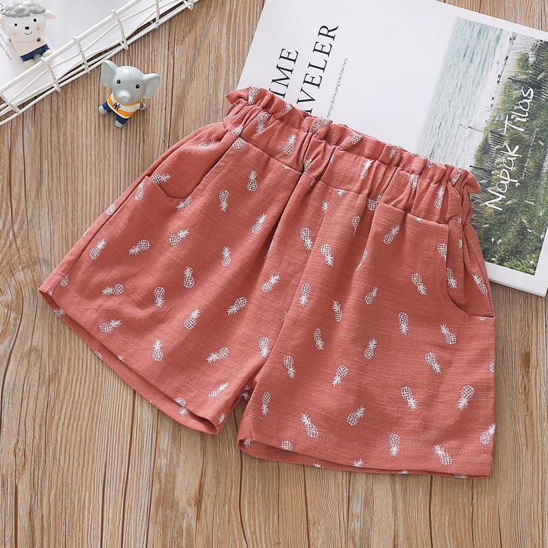 Ceciwawo 2020 Girls Hot Pants Outer Wear Versatile Baby Cotton Linen Summer Loose Pants Kids Beach Shorts.