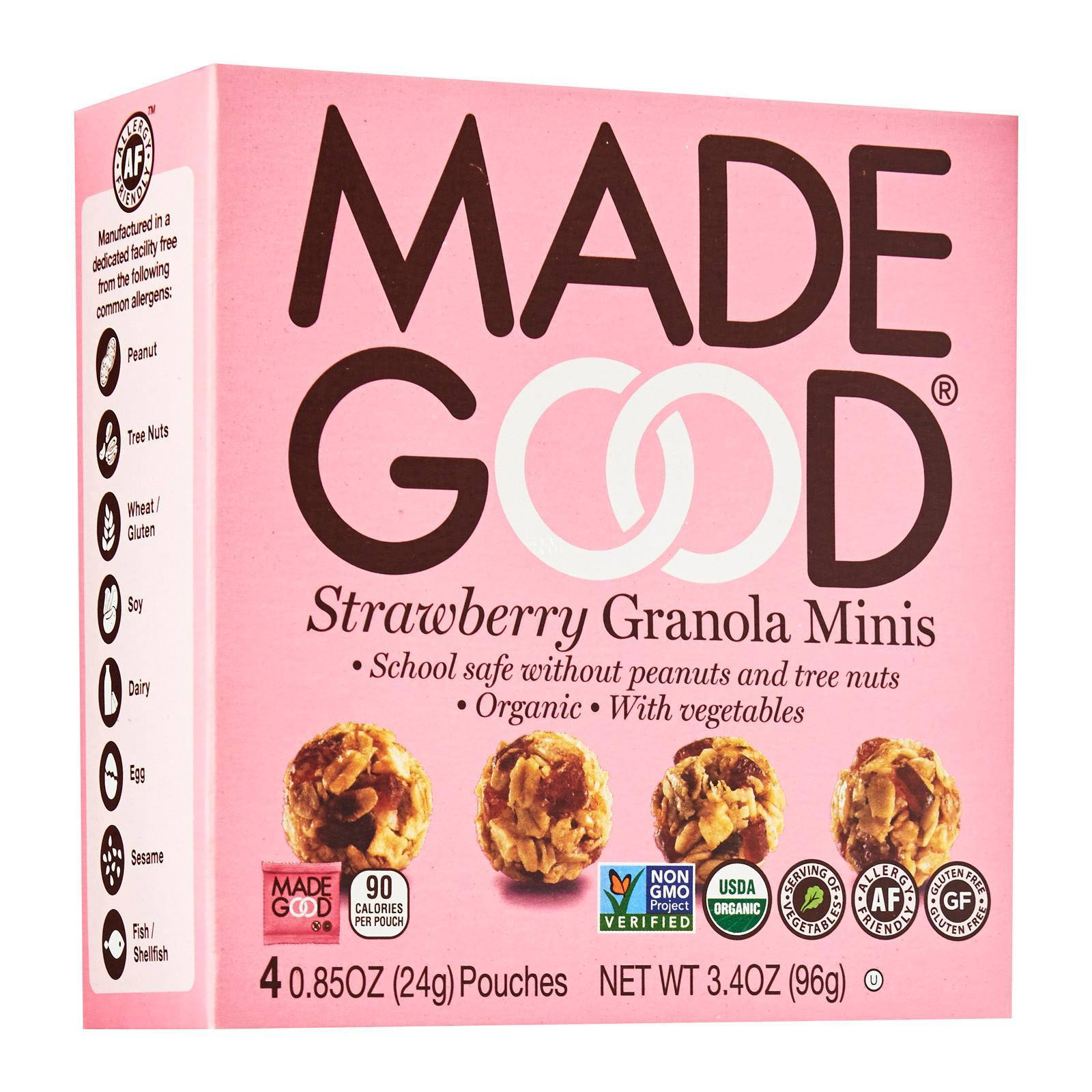 Made Good Strawberry Mini Granola Bar By Redmart.