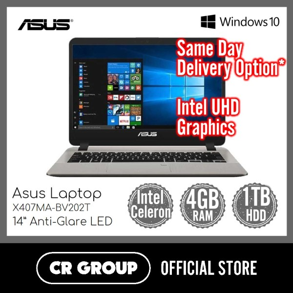 Asus Laptop X407MA Series 14 Inch HD | Intel Celeron N4000 | 4GB DDR4 RAM | 1TB HDD | Intel UHD Graphics