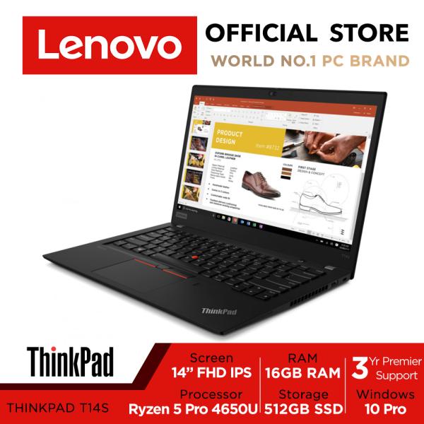 Thinkpad T14s Gen 1 20UHS0DK00 | 14.0 FHD Anti-Glare | Ryzen 5 Pro | 16GB | 512GB | Win10 Pro | 3Y Premier Support
