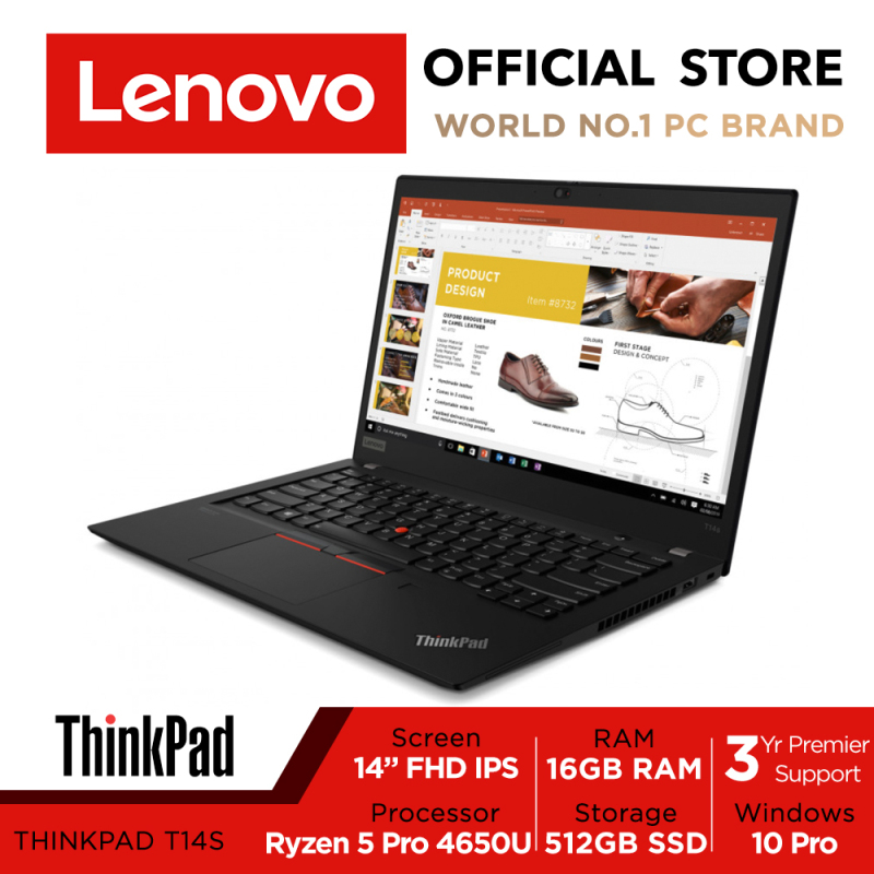 Thinkpad T14s Gen 1 20UHS0DK00   14.0 FHD Anti-Glare   Ryzen 5 Pro   16GB   512GB   Win10 Pro   3Y Premier Support