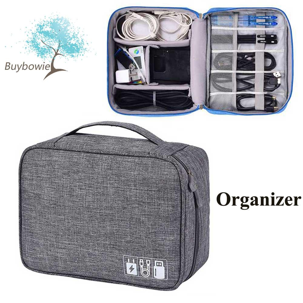 837d6363de5b BuyBowie Electronic Organizer, Travel Gadget Bag Double Layer Waterproof  Electronic Accessories Case for 9.7 Inch Tablet, Cables, Memory Cards,  Mobile ...