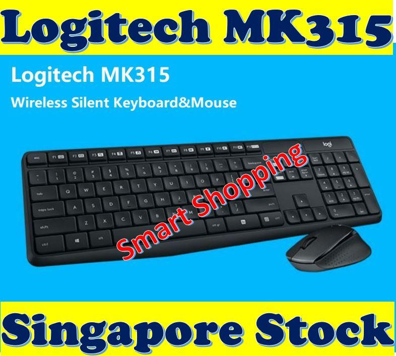 [Free Gift] Logitech MK315 Quiet and Durable Wireless Keyboard and Mouse Combo 920-009068 MK 315 Silent Singapore