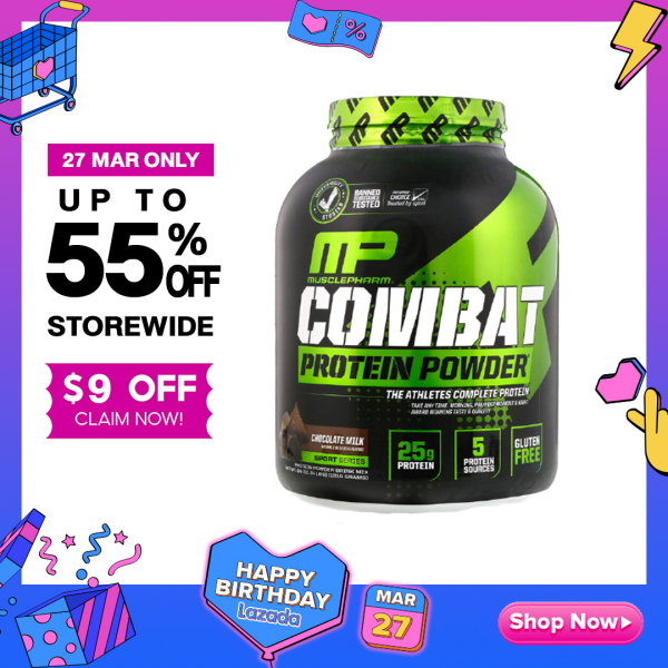 Buy MusclePharm | Combat Protein Powder | Build Muscle | Gluten Free | Various Flavors - Ultimate Sup Singapore