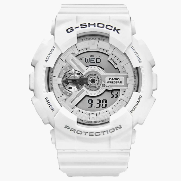 Original  Watch G Shock GA 110 Men and Women Sport Watch Resistant LED Auto Light Watch White 200M Water Resistant Shockproof and Waterproof World Time LED Auto Light Wist Sports Watches with 2 Year Warranty Malaysia