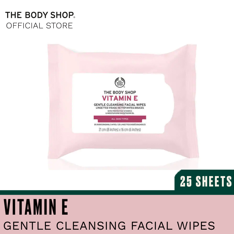 Buy The Body Shop Vitamin E Cleansing Wipes Singapore