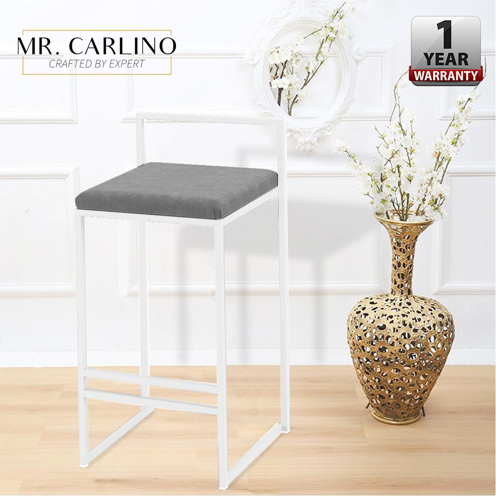 REED Steel Wooden High Leg With Canvas Cushion Seat Bar Stools
