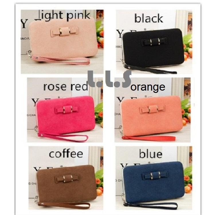 Fashion PU Multi Functional Card Holder Leather Button Clutch Lady Long Wallet (BG1014) Singapore Seller + 100% Authentic