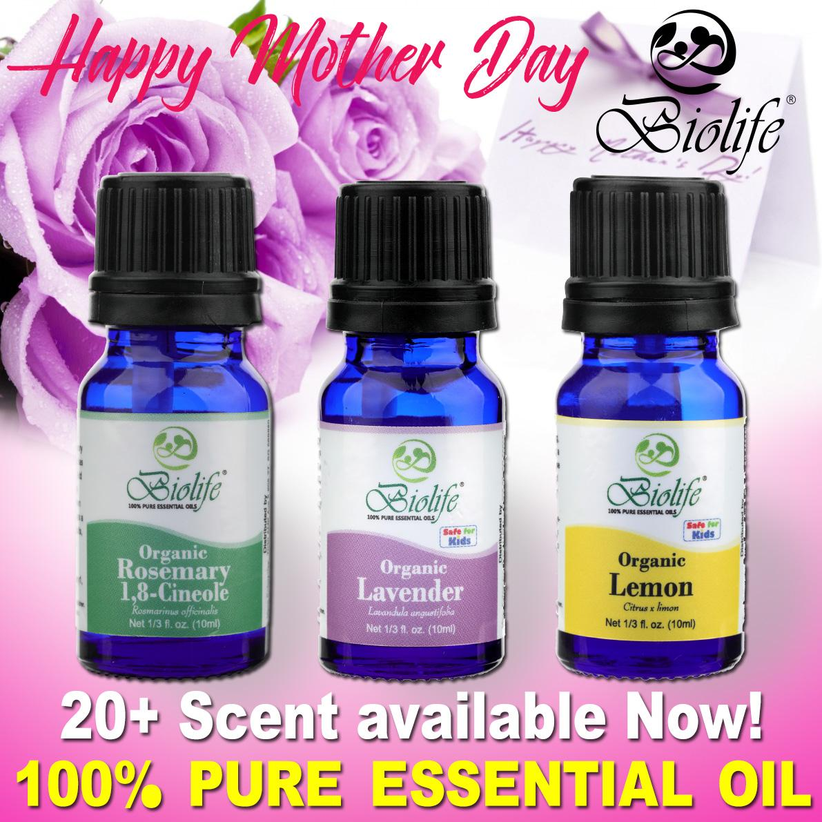 Biolife 100% Pure And Natural Organic Essential Oil With 20+ Scent Available (made In Usa), 10ml Bottle By Cabs Professional.