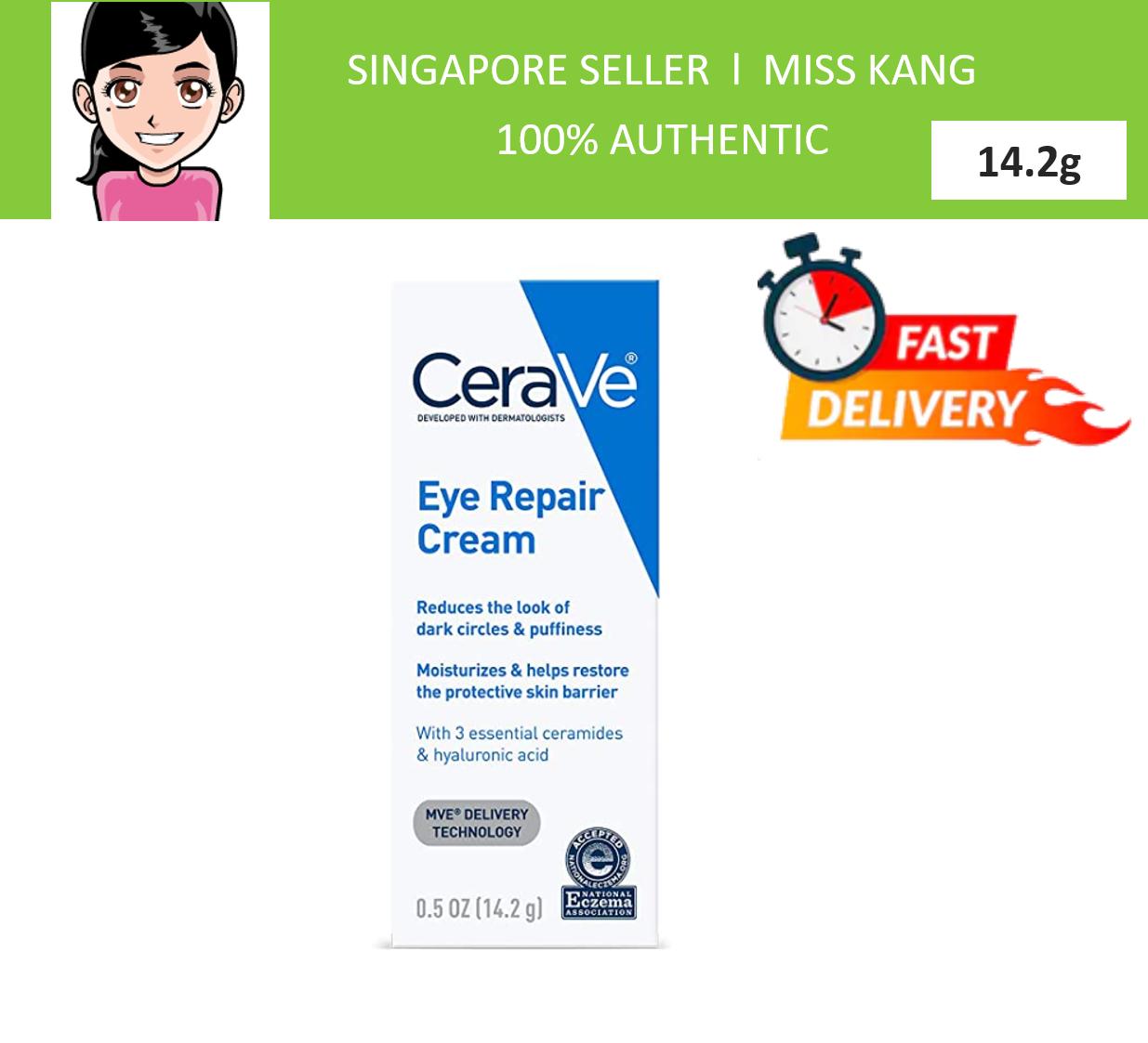 Cerave Eye Repair Cream   0.5 Oz   Eye Cream For Dark Circles & Puffiness   Fragrance Free.
