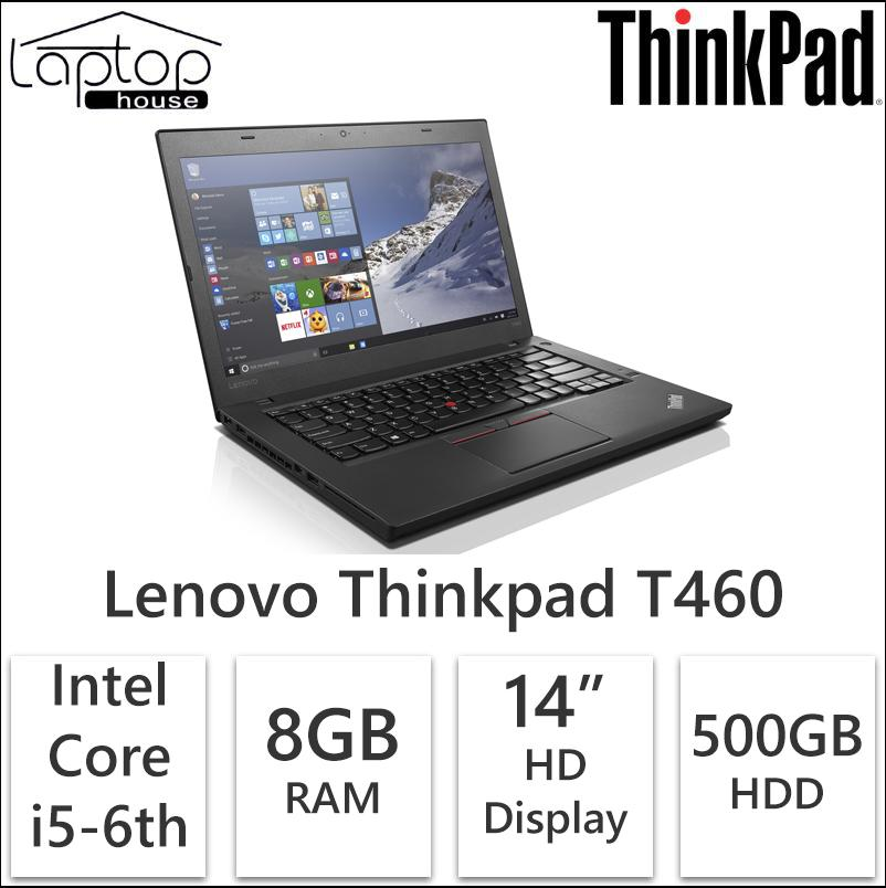 Refurbished Lenovo Thinkpad T460 (Core i5-6th Gen / 500GB HDD/ 8GB RAM)