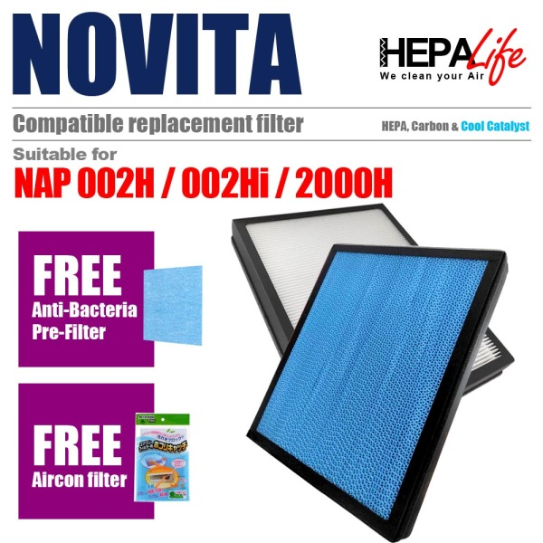 NOVITA NAP00H NAP00Hi NAP2000H Compatible Hepa Filter - Hepalife Singapore