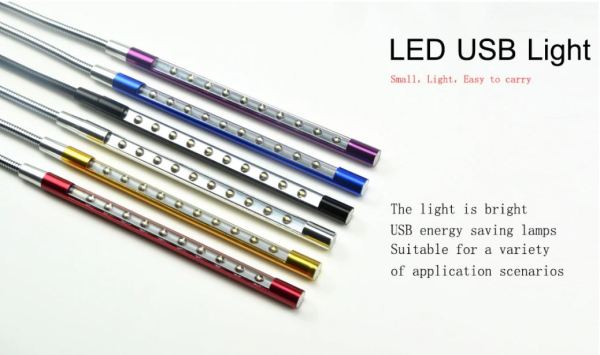 Flexible USB LED Light Lamp For Notebook Laptop Reading Gift