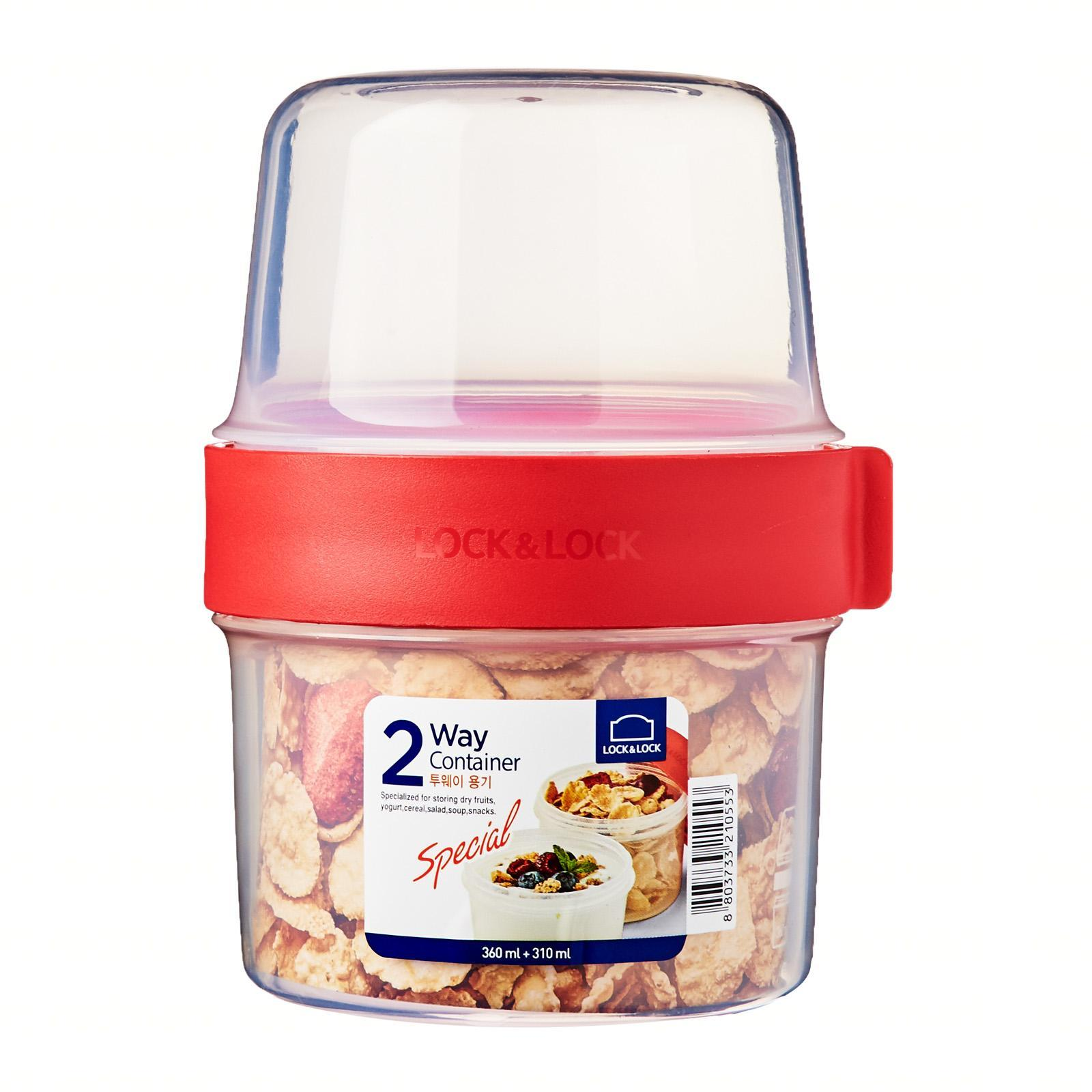 Lock and Lock Twist 2 Way Container 360Ml + 310Ml