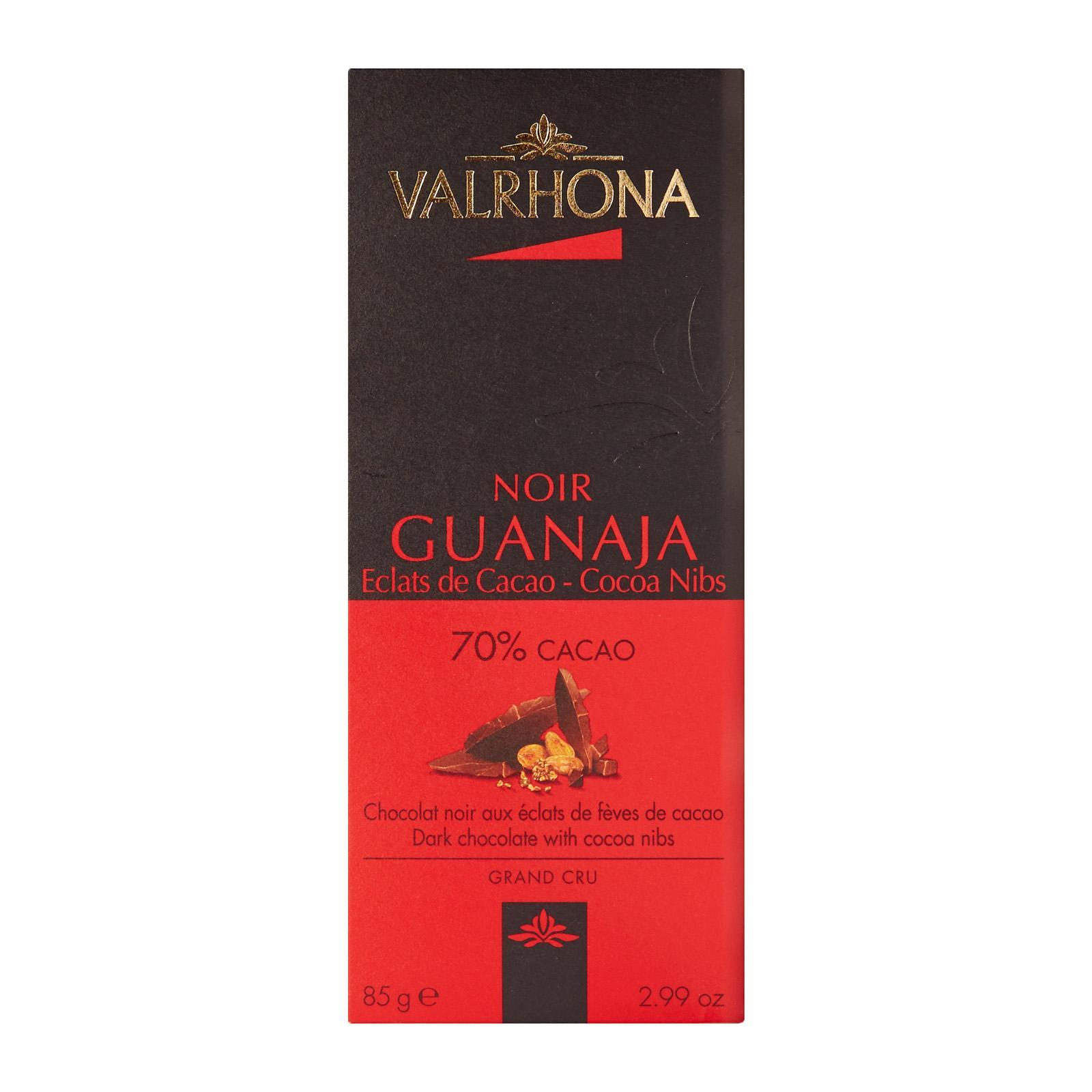Valrhona Dark Guanaja 70% W/Cocoa Nib Gourmet Chocolate Bar