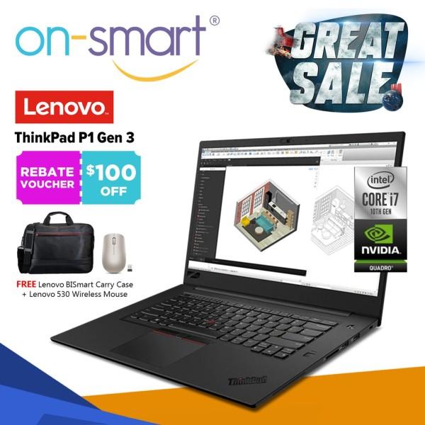 【Next Day Delivery】Lenovo ThinkPad P1 Gen 3 | Intel Core i7-10750H | 16GB RAM | 1TB SSD | NVIDIA Quadro T1000 Max-Q 4GB GDDR6 | Windows 10 Pro | 3 Years Warranty | Premium Laptop Computer