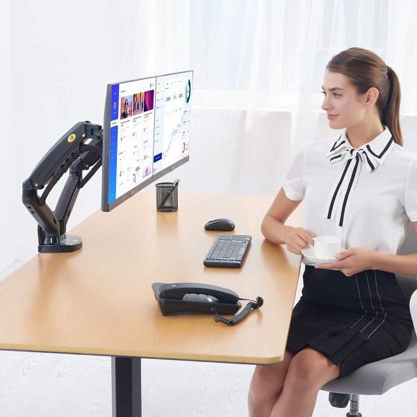 North Bayou (NB) Monitor Arm Lite (Dual Screen/Desk mount) - Genuine