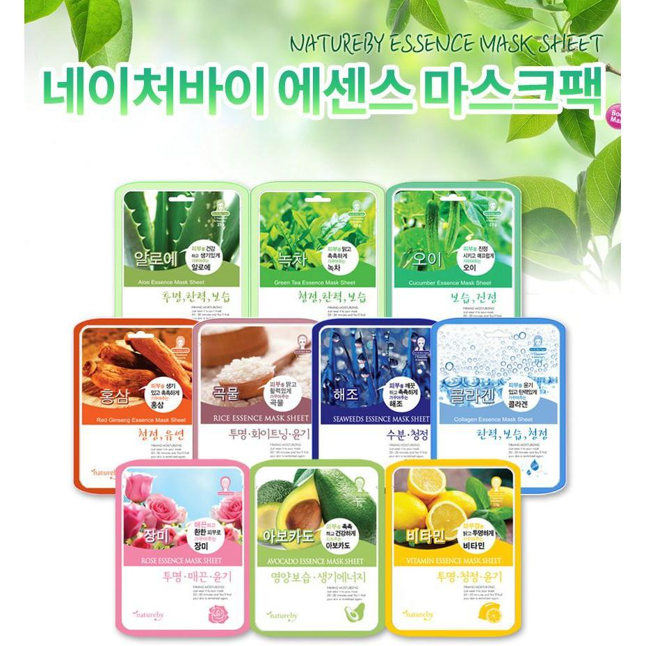 *10 Pieces* Natureby Face Sheet Mask (230ml) Sg Seller *fast Delivery* Moisturizing & Radiance *anti Aging & Deep Hydration* Firming & Brightening *prevents Wrinkle & Soothing* Nourishing & Skin Rejuvenation -100% Authentic By Beauty Bestie -Made In Korea.