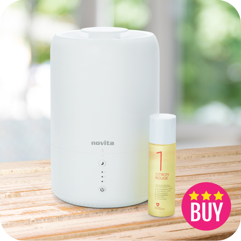 novita Humidifier NH810 with 1 bottle of Air Purifying Solution Concentrate Singapore