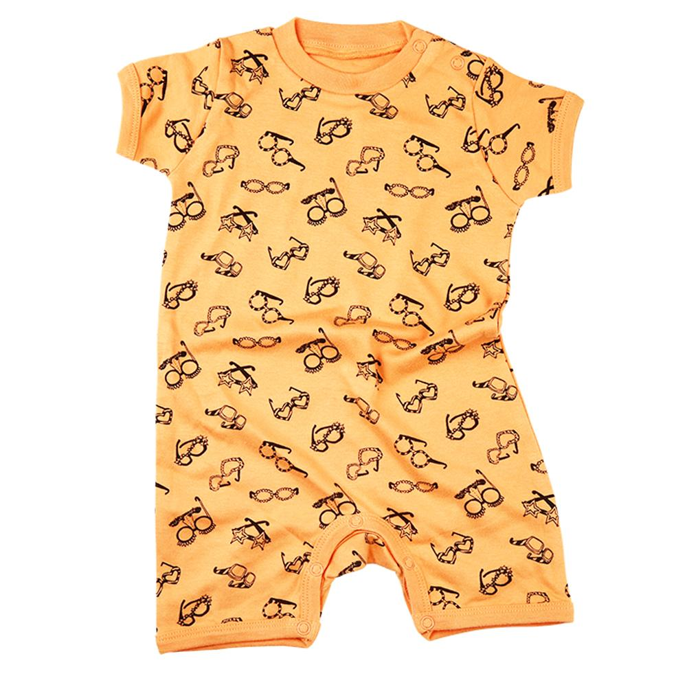 Kalila Organics Certified Organic Cotton Infant Baby Short Sleeve Ice Cream Romper