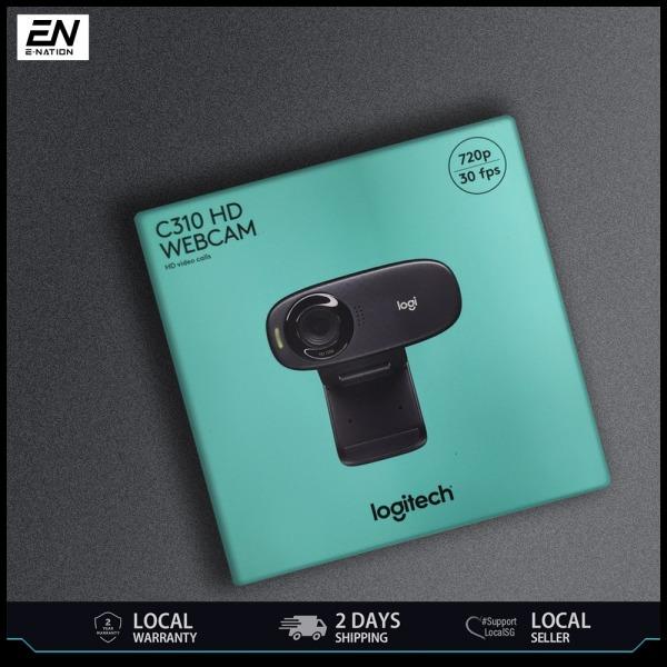 LOGITECH C310 HD Webcam For Desktop   Laptop Supports Skype Zoom   Simple video calling in HD 720p   2 years warranty