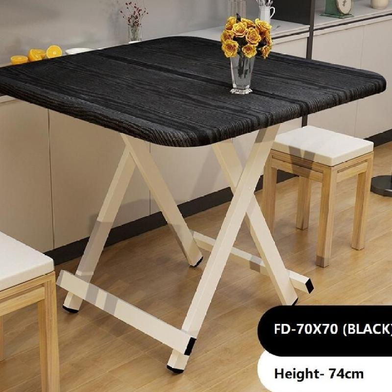 70x70cm Foldable Dining Table Kitchen Desk Event Table