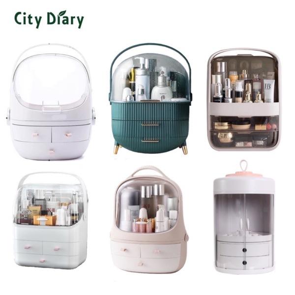 Buy nordic style retro cosmetics organizer makeup box Singapore