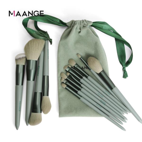 Buy MAANGE Make Up Brush Set With Brush Bag Green (13Pcs) Singapore