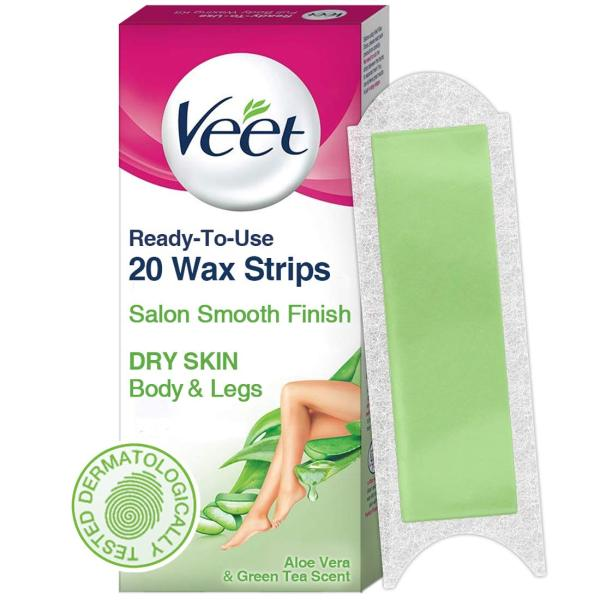 Buy Veet Ready to Use Wax Strips Full Body Waxing Kit - Dry Skin, 20 Strips Singapore